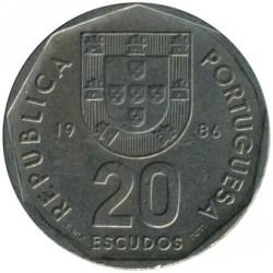 Coin > 20escudos, 1986-2001 - Portugal  - obverse