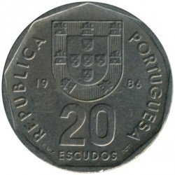Mynt > 20escudos, 1986-2001 - Portugal  - obverse