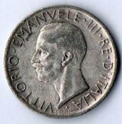 Moneta > 5liros, 1926-1930 - Italija  - obverse
