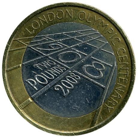 2 Pfund 2008 Olympische Spiele Vereinigtes Königreich Münzen