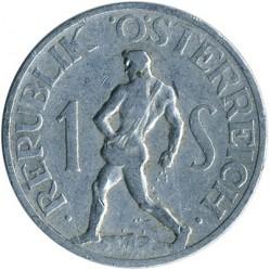 Монета > 1шилінг, 1946-1957 - Австрія  - obverse