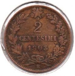 Moneta > 2čentezimai, 1903-1908 - Italija  - reverse