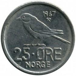 錢幣 > 25歐爾, 1958-1973 - 挪威  - reverse