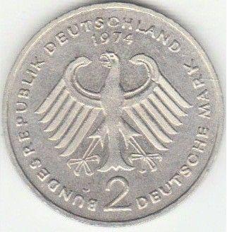 2 Mark 1974 Konrad Adenauer Deutschland Münzen Wert Ucoinnet