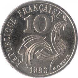 Moneda > 10francs, 1986 - França  (Llibertat Igualtat Fraternitat) - reverse