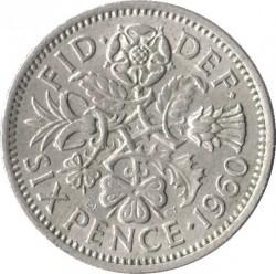 Νόμισμα > 6Πέννες, 1954-1970 - Ηνωμένο Βασίλειο  - reverse