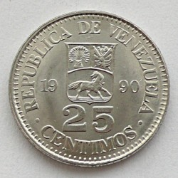 Moneda > 25céntimos, 1989-1990 - Venezuela  - obverse