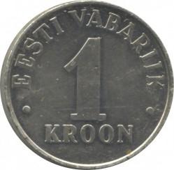 Minca > 1kroon, 1992-1995 - Estónsko  - reverse