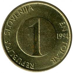 Moneda > 1tòlar, 1992-2006 - Eslovènia  - obverse