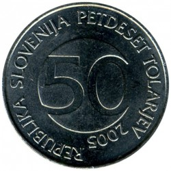 Moneda > 50tolarjev, 2003-2006 - Eslovènia  - obverse