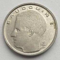 Монета > 1франк, 1989-1993 - Бельгия  (Надпись на французском - 'BELGIQUE') - obverse