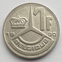 Монета > 1франк, 1989-1993 - Бельгия  (Надпись на французском - 'BELGIQUE') - reverse