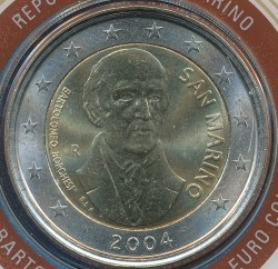Moneda > 2euros, 2004 - San Marino  (Bartolomeo Borghesi) - obverse