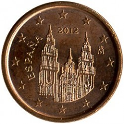 Coin > 1 euro cent, 2010-2019 - Spain  - reverse