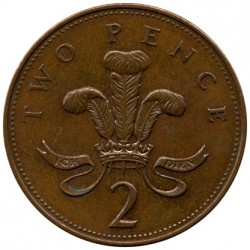 Coin > 2 pence, 2002 - United Kingdom  (Copper plated Steel /magnetic/) - reverse
