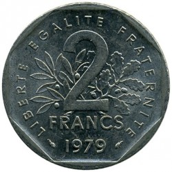 Coin > 2 francs, 1979 - France  - obverse