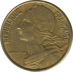 Moneda > 20céntimos, 1965 - Francia  - obverse