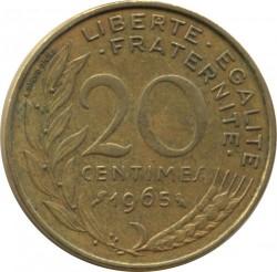Moneda > 20céntimos, 1965 - Francia  - reverse