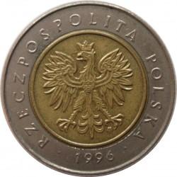 Coin > 5zlotych, 1994-2017 - Poland  - obverse