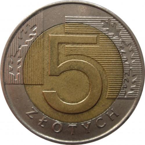 Ценость 5 злотых 1994года золотые монеты польши