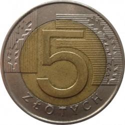 Coin > 5zlotych, 1994-2017 - Poland  - reverse