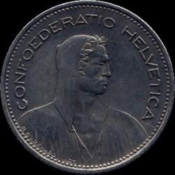 Moneta > 5franków, 1992 - Szwajcaria  - obverse