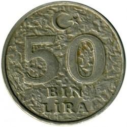 Moneta > 50.000lir, 1996-2000 - Turcja  - reverse