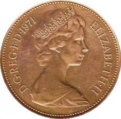 Moneda > 2nuevospeniques, 1971-1981 - Reino Unido  - obverse