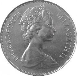 Coin > 10newpence, 1976 - United Kingdom  - obverse