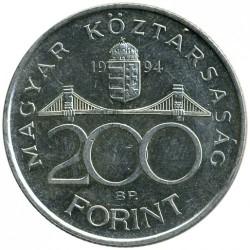 Монета > 200форинтов, 1994-1998 - Венгрия  - obverse