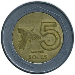 Moneta > 5naujiejisolai, 1994-2009 - Peru  - reverse