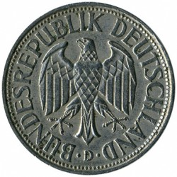 Монета > 1марка, 1950-2001 - Германия  - reverse