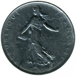 Coin > 1 franc, 1970 - France  - reverse