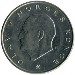 Munt > 5kroner, 1974-1988 - Noorwegen  - obverse