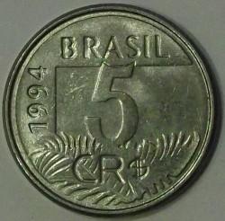 العملة > 5كروزيروريال, 1994 - البرازيل  - reverse