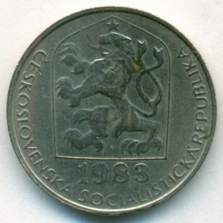 Moneda > 50 hellers, 1983 - Checoslovaquia  - obverse