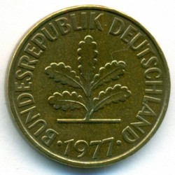 Coin > 10pfennig, 1977 - Germany  - obverse