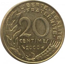 سکه > 20سنتیماس, 2000 - فرانسه  - reverse