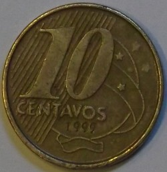Moneda > 10centavos, 1999 - Brasil  - obverse