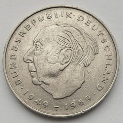 Coin > 2mark, 1970-1987 - Germany  (Theodor Heuss. 20th Anniversary - Federal Republic (1949 - 1969)) - reverse