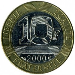 Coin > 10 francs, 2000 - France  - obverse