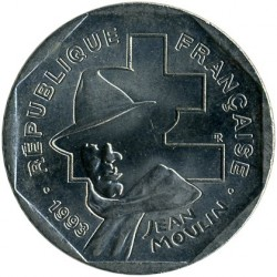 Coin > 2 francs, 1993 - France  (50th Anniversary - Foundation of the National Resistance Movement) - reverse
