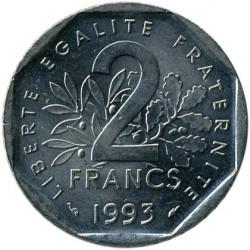 Кованица > 2франке, 1993 - Француска  (50th Anniversary - Foundation of the National Resistance Movement) - reverse