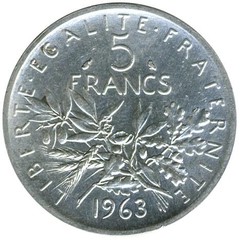 4f9da23f8f 5 franchi 1959-1969, Francia - Valore della moneta - uCoin.net