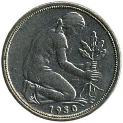 Coin > 50pfennig, 1950 - Germany  - obverse