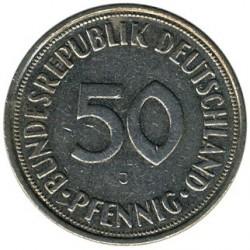 Moneda > 50peniques, 1950-2001 - Alemania  - reverse
