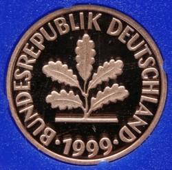 Münze > 1Pfennig, 1999 - Deutschland  - obverse