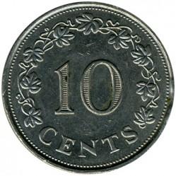 Minca > 10cents, 1972-1981 - Malta  - reverse