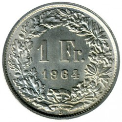 Coin > 1 franc, 1875-1967 - Switzerland  - obverse