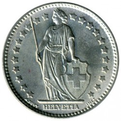 Coin > 1 franc, 1875-1967 - Switzerland  - reverse